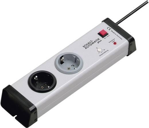 Ehmann 0222x00022301 Steckdosenleiste mit Schalter 2fach Grau Schutzkontakt