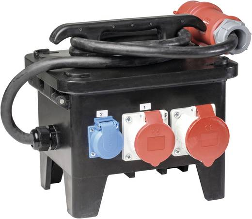 as - Schwabe CEE Stromverteiler Baustellenstromverteiler M2 60552 400 V 32 A
