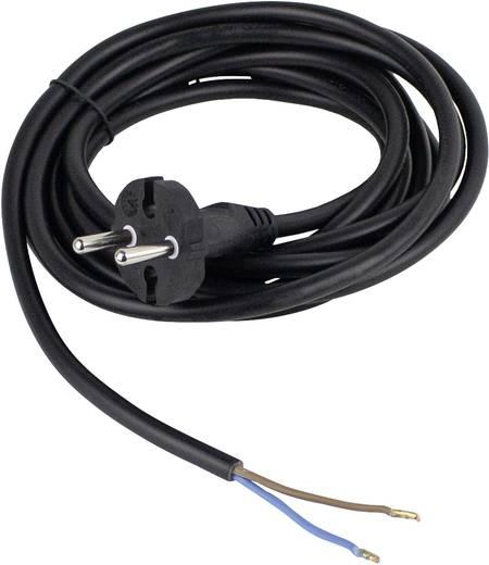 Strom Anschlusskabel [ Konturen-Stecker - Kabel, offenes Ende] Schwarz 3 m as - Schwabe 70522