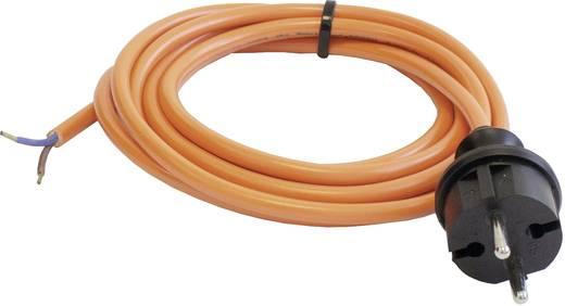 Strom Anschlusskabel [ Schutzkontakt-Stecker - Kabel, offenes Ende] Orange 5 m as - Schwabe 70917