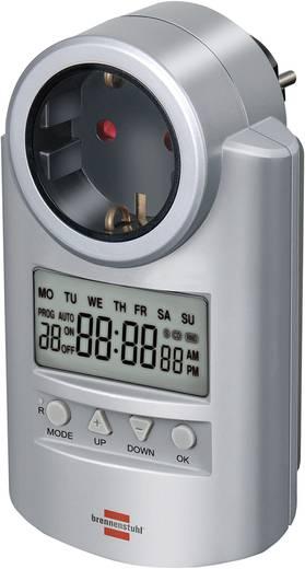 Brennenstuhl 1507500 Steckdosen-Zeitschaltuhr digital Wochenprogramm 3680 W IP20 Countdown-Funktion, Zufallsfunktion