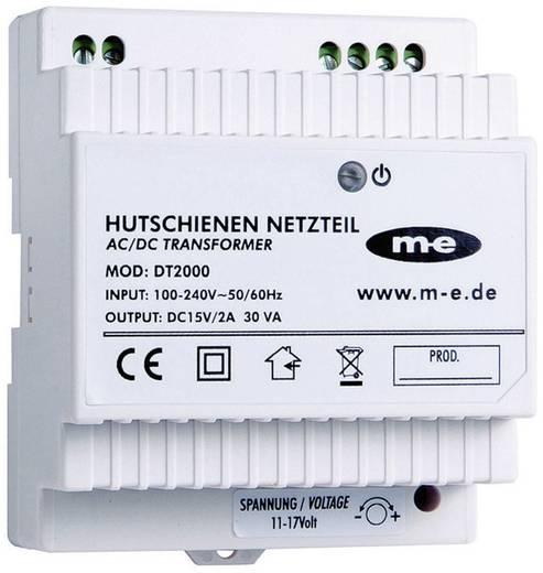 m-e modern-electronics 40778 Türsprechanlage Hutschienen-Netzteil Weiß