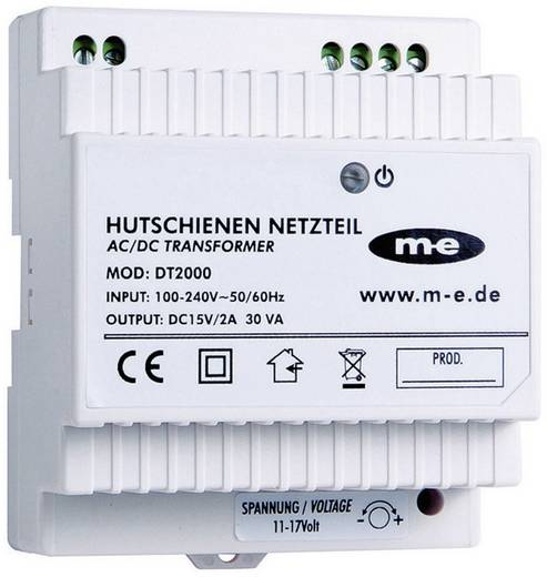 Türsprechanlage Hutschienen-Netzteil m-e modern-electronics 40778 Weiß