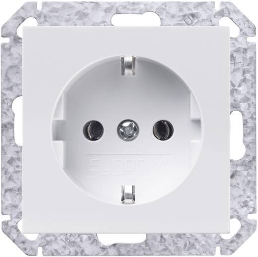 Sygonix Einsatz Schutzkontakt-Steckdose SX.11 sygonixweiß, glänzend 33596X