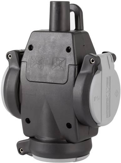 3fach-Kupplung Gummi mit Spannungsanzeige 230 V Grau, Schwarz IP54 ABL Sursum 1173563