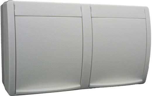 Busch-Jaeger Doppelsteckdose Ocean Aufputz Weiß 20/2 EW-54