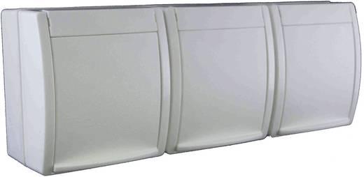 Busch-Jaeger Dreifachsteckdose Ocean Aufputz Weiß 2300/3 EW-54