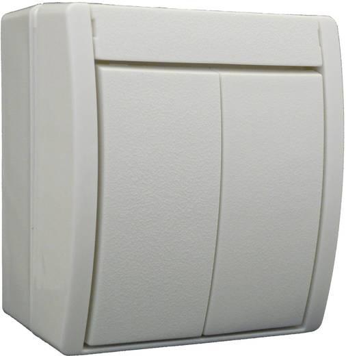 busch jaeger serienschalter ocean aufputz wei 2601 5 w 54. Black Bedroom Furniture Sets. Home Design Ideas