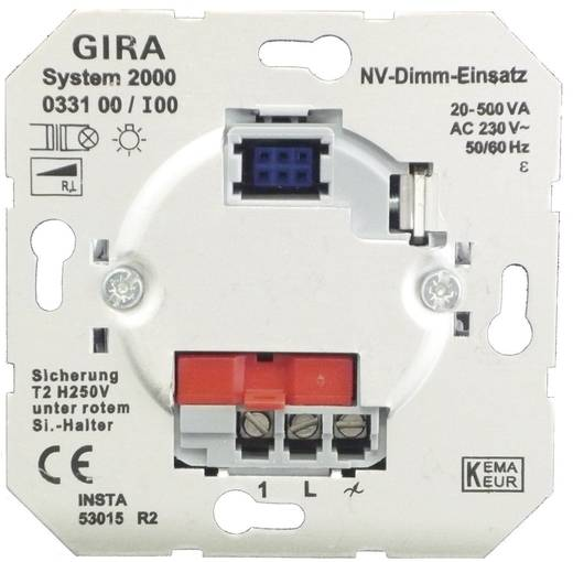GIRA Einsatz Dimmer Standard 55, E2, Event Klar, Event, Event Opak, Esprit, ClassiX, System 55 033100