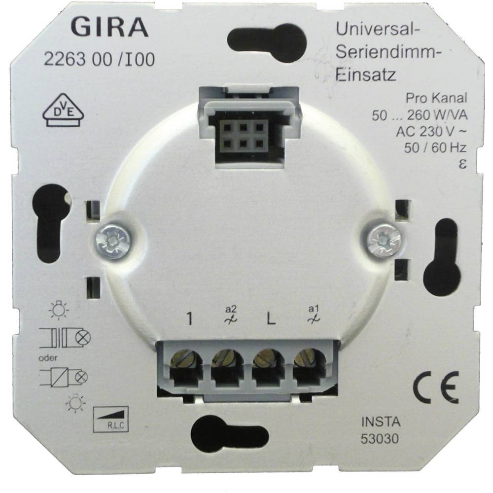 gira insert dimmer standard 55 e2 event tranparent event ev from. Black Bedroom Furniture Sets. Home Design Ideas