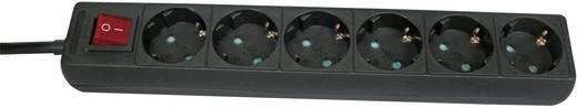 Steckdosenleiste mit Schalter 6fach Schwarz Schutzkontakt GAO 7118