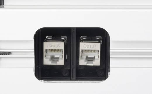 EVOline 159610011800 Steckdosenleiste ohne Schalter 5fach Aluminium, Schwarz Schutzkontakt