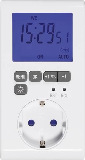 Steckdosen-Zeitschaltuhr digital Wochenprogramm GAO EMT769A 3680 W IP20