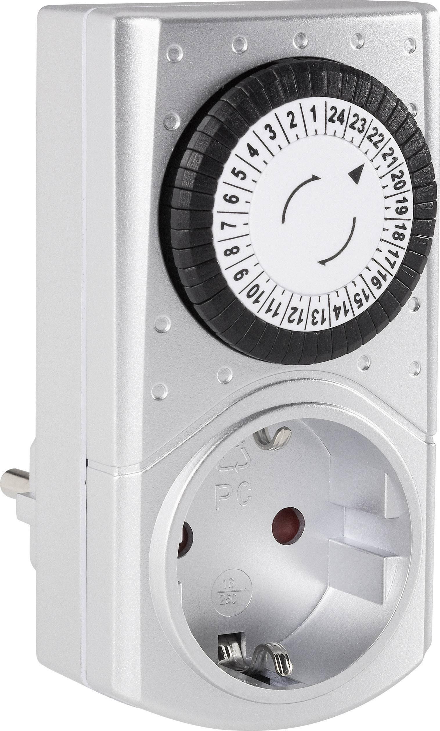 GAO 17SWD//3A Steckdosen-Zeitschaltuhr analog  Tagesprogramm  3680 W IP20
