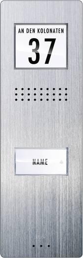 Türsprechanlage Kabelgebunden Außeneinheit m-e modern-electronics ADV 210 1 Familienhaus Edelstahl