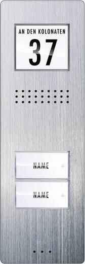Türsprechanlage Kabelgebunden Außeneinheit m-e modern-electronics ADV 220 2 Familienhaus Edelstahl