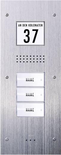 Türsprechanlage Kabelgebunden Außeneinheit m-e modern-electronics ADV 230 3 Familienhaus Edelstahl