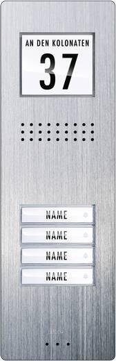 Türsprechanlage Kabelgebunden Außeneinheit m-e modern-electronics ADV 240 4 Familienhaus Edelstahl
