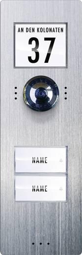 m-e modern-electronics VDV 720 Video-Türsprechanlage Kabelgebunden Außeneinheit 2 Familienhaus Edelstahl