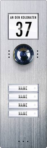 Video-Türsprechanlage Kabelgebunden Außeneinheit m-e modern-electronics VDV 740 4 Familienhaus Edelstahl