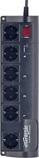 Gembird EG-PMS2 Programmierbare Überspannungsschutz-Steckdosenleiste 6fach Schwarz Schutzkontakt