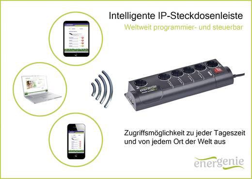 Überspannungsschutz-Steckdosenleiste 6fach Schwarz Schutzkontakt Gembird EG-PMS2-LAN