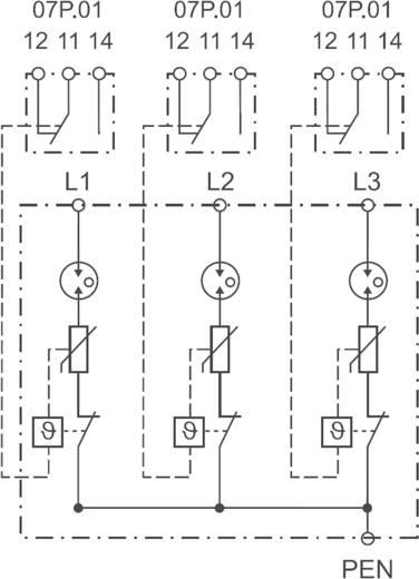 Finder 7P0382601025 7P.03.8.260.1025 Überspannungsschutz-Ableiter Überspannungsschutz für: Verteilerschrank 30 kA