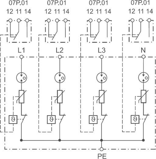 Überspannungsschutz-Ableiter Überspannungsschutz für: Verteilerschrank Finder 7P0582601025 7P.05.8.260.1025 30 kA