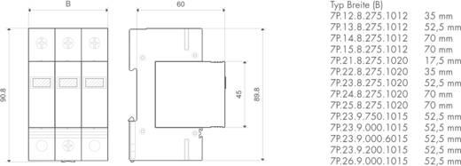 Finder 7P1282751012 7P.12.8.275.1012 Überspannungsschutz-Ableiter Überspannungsschutz für: Verteilerschrank 30 kA