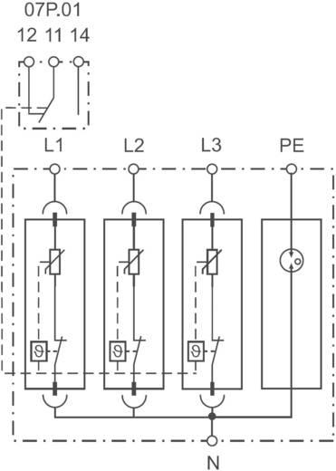 Finder 7P1482751012 7P.14.8.275.1012 Überspannungsschutz-Ableiter Überspannungsschutz für: Verteilerschrank 30 kA