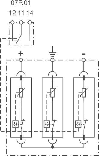 Überspannungsschutz-Ableiter Überspannungsschutz für: Verteilerschrank Finder 7P2390001015 7P.23.9.000.1015 15 kA