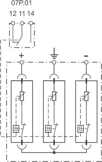 Überspannungsschutz-Ableiter Überspannungsschutz für: Verteilerschrank Finder 7P2397501020 7P.23.9.750.1020 20 kA