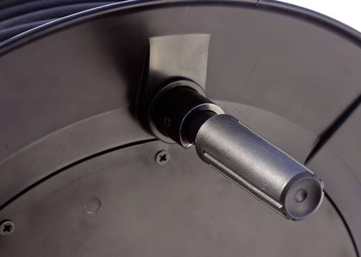 Kabeltrommel 80 m Schwarz Schutzkontakt-Stecker as - Schwabe 26100