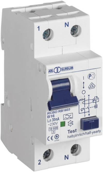 Interruttore differenziale / Disgiuntore FI ABL Sursum RC1003 1 polo 10 A 0.03 A 230 V 1 pz.
