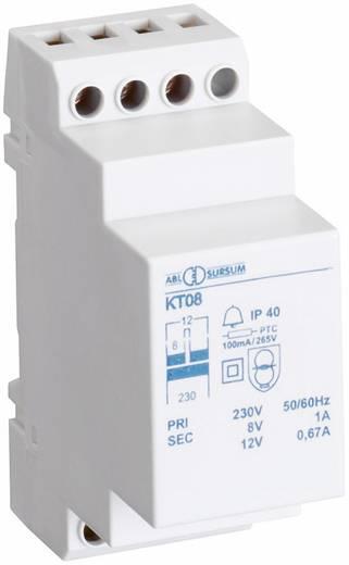 Klingel-Transformator 8 V/AC, 12 V/AC 1 A ABL Sursum KT08