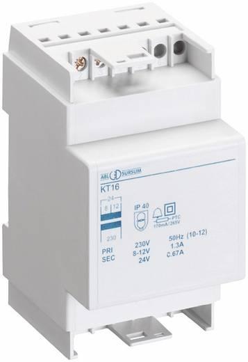 Klingel-Transformator 8 V/AC, 12 V/AC, 24 V/AC 0.66 A ABL Sursum KT16
