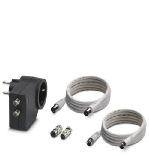 Überspannungsschutz-Zwischenstecker Überspannungsschutz für: Steckdosen, DVB-C, Kabel (Koax), DVB-S, Sat (F-Stecker) Ph