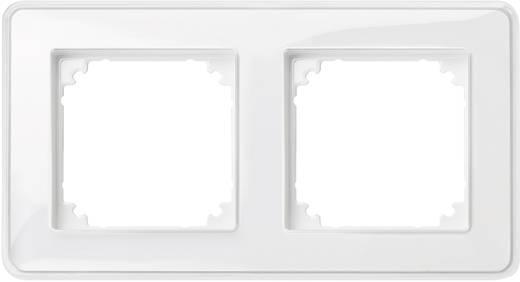 Merten 2fach Rahmen M-Creativ Transparent, Polarweiß MEG4020-3500