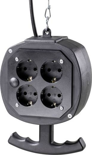 8fach Steckdosen-Verteiler as - Schwabe 60971 Schwarz