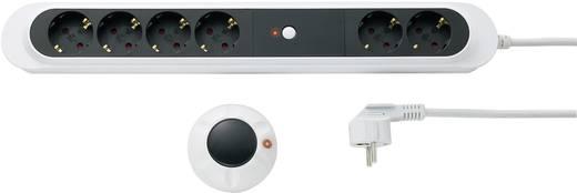 9263C2 Funk-Steckdosenleiste 6fach Weiß, Schwarz Schutzkontakt