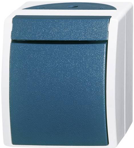Busch-Jaeger Wechselschalter Ocean Aufputz Blau-Grün 2601/6 W-53