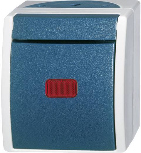 Busch-Jaeger Wechselschalter, Kontrollschalter Ocean Aufputz Blau-Grün 2601/6 SKW-53