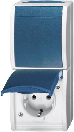 busch jaeger schalter steckdosen kombination ocean aufputz blau gr n 2601 6 20 ew 53. Black Bedroom Furniture Sets. Home Design Ideas