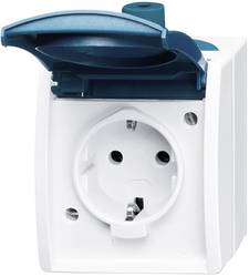 busch jaeger doppelsteckdose ocean aufputz blau gr n 20 2 ew 53 kaufen. Black Bedroom Furniture Sets. Home Design Ideas