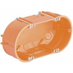 2komorová krabice do dutých zdí Kaiser Elektro 9062-02, pro osvětlení, 68 x 47 mm, oranžová