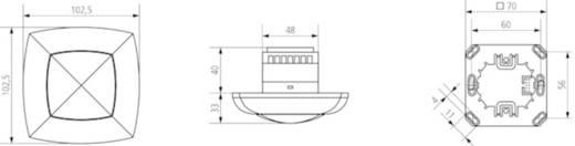 Decke PIR-Bewegungsmelder Theben 2010001 360 ° Relais Reinweiß IP40