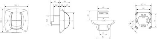 Decke PIR-Bewegungsmelder Theben 2010080 120 ° Relais Reinweiß IP40