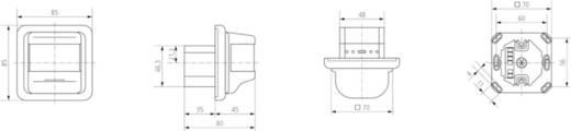 Wand PIR-Bewegungsmelder Theben 2020050 180 ° Relais Reinweiß IP40