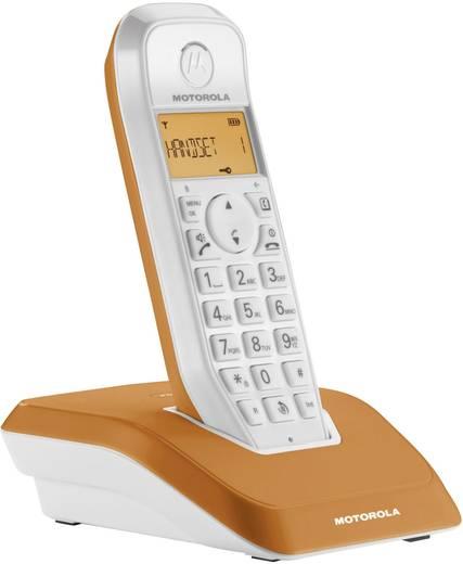 Schnurloses Telefon analog Motorola STARTAC S1201 Orange, Weiß