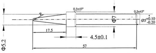 Lötspitze Bleistiftform Basetech T-3 Spitzen-Größe 4.9 mm Spitzen-Länge 57 mm Inhalt 1 St.